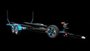 Malibu Tandem Axle Trailer w/Opt 18″ XD Rockstar 2 Wheels, Matching Spare, Metallic Fenders and Transom Step