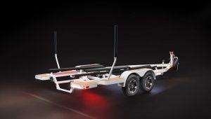 Malibu Tandem Axle Trailer w/14″ Alloy Wheels and Opt Transom Step